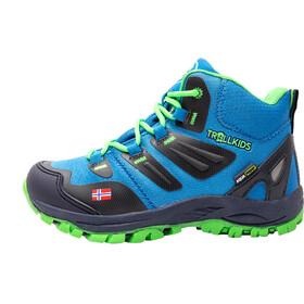 TROLLKIDS Rondane Hiker Mid Shoes Kids medium blue/green